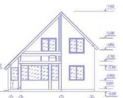 Бесплатные проекты домов с мансардой можно найти в Интернете