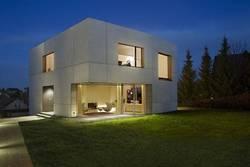 Дом из бетонного куба
