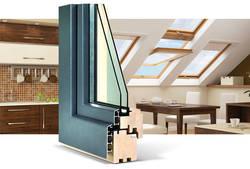 Качественные дерево-алюминиевые окна от компании KSKE