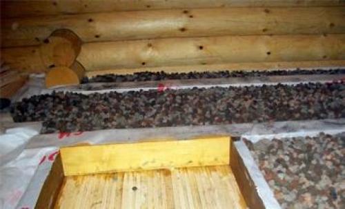 Утепленный керамзитом потолок
