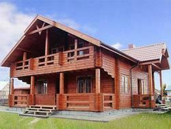 Рубленый дом с балконом: дело привычное