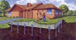 Строим дом своими руками: чем выгоден фундамент на винтовых сваях