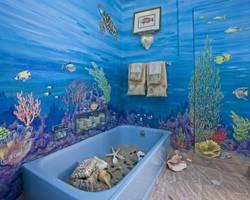 Ванная комната в морском стиле: бюджетный вариант