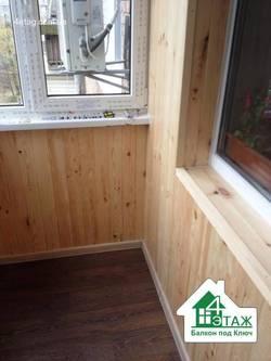 Внутренняя отделка балконов. Многофункциональные варианты.