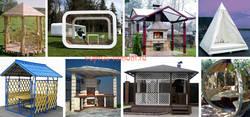 Беседка: дизайн и проект, материалы, технология строительства