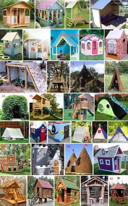 Игровой домик для детей: как построить на даче, во дворе, в квартире