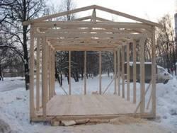 Как построить каркасный гараж?