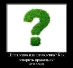 Как правильно шпатлевка или шпаклевка?