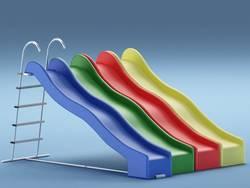 Пластиковые горки для детских площадок