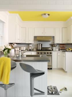 Популярные и практичные способы оформления потолка в кухне