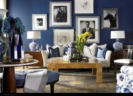 Интерьер в синем цвете