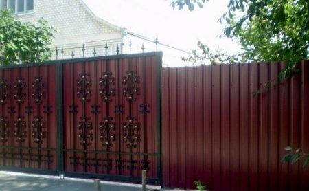 Ворота и забор из профилированного листа