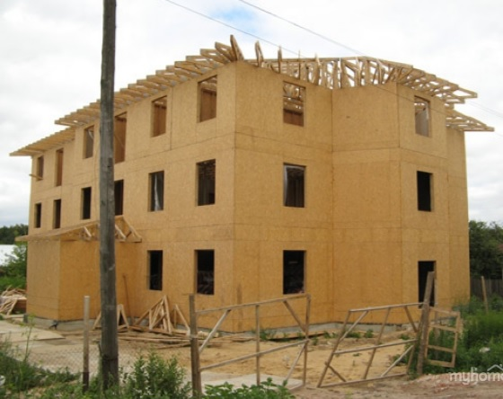 Крыша для дома из бруса