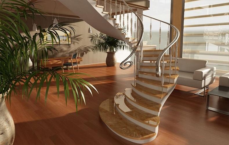Лестничные конструкции и интерьерные лестницы