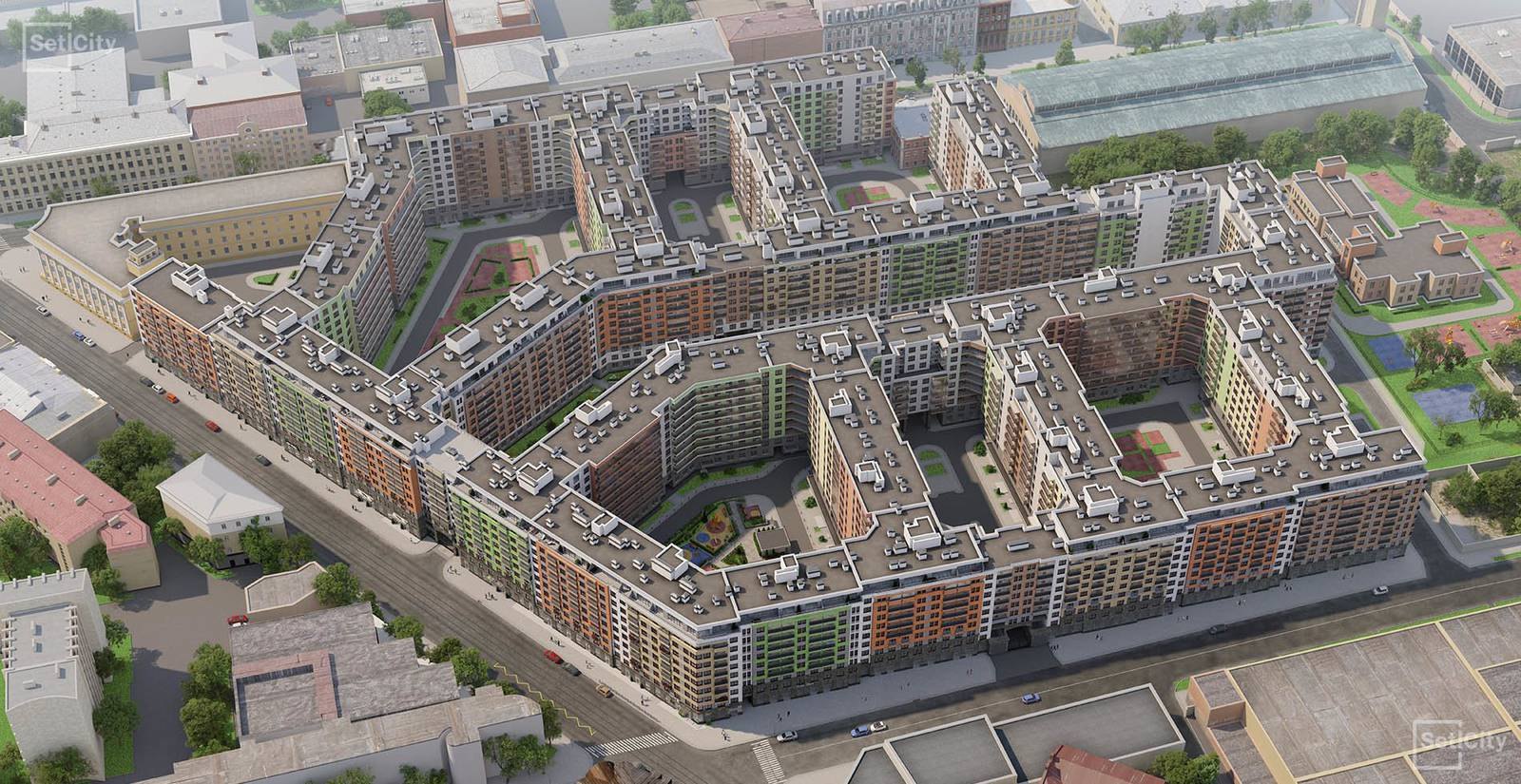 Панорамы жилых комплексов и планировки квартир от Setl Group в Санкт-Петербурге