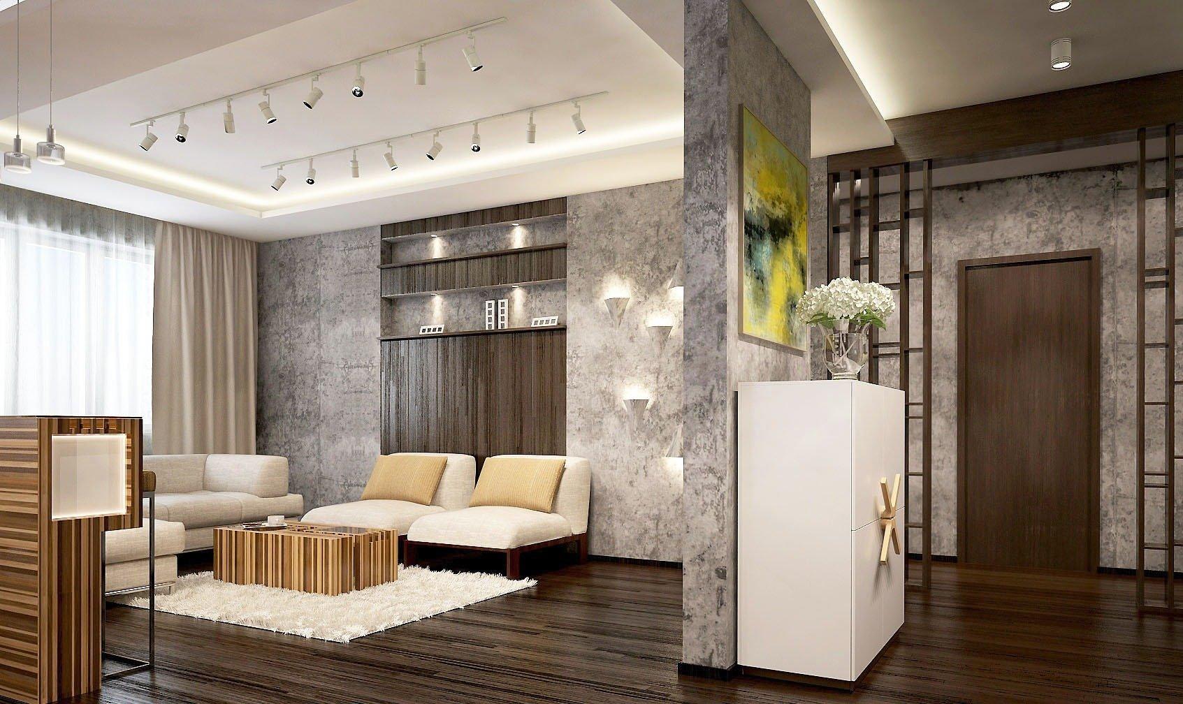 Дизайн-проект типовой трехкомнатной квартиры